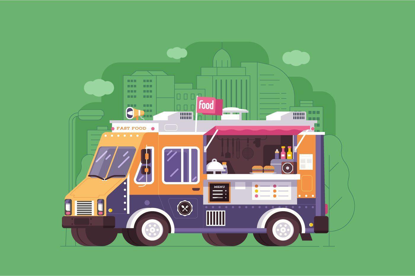Street Food Trucks And Vans Food Truck Street Food Coffee Van
