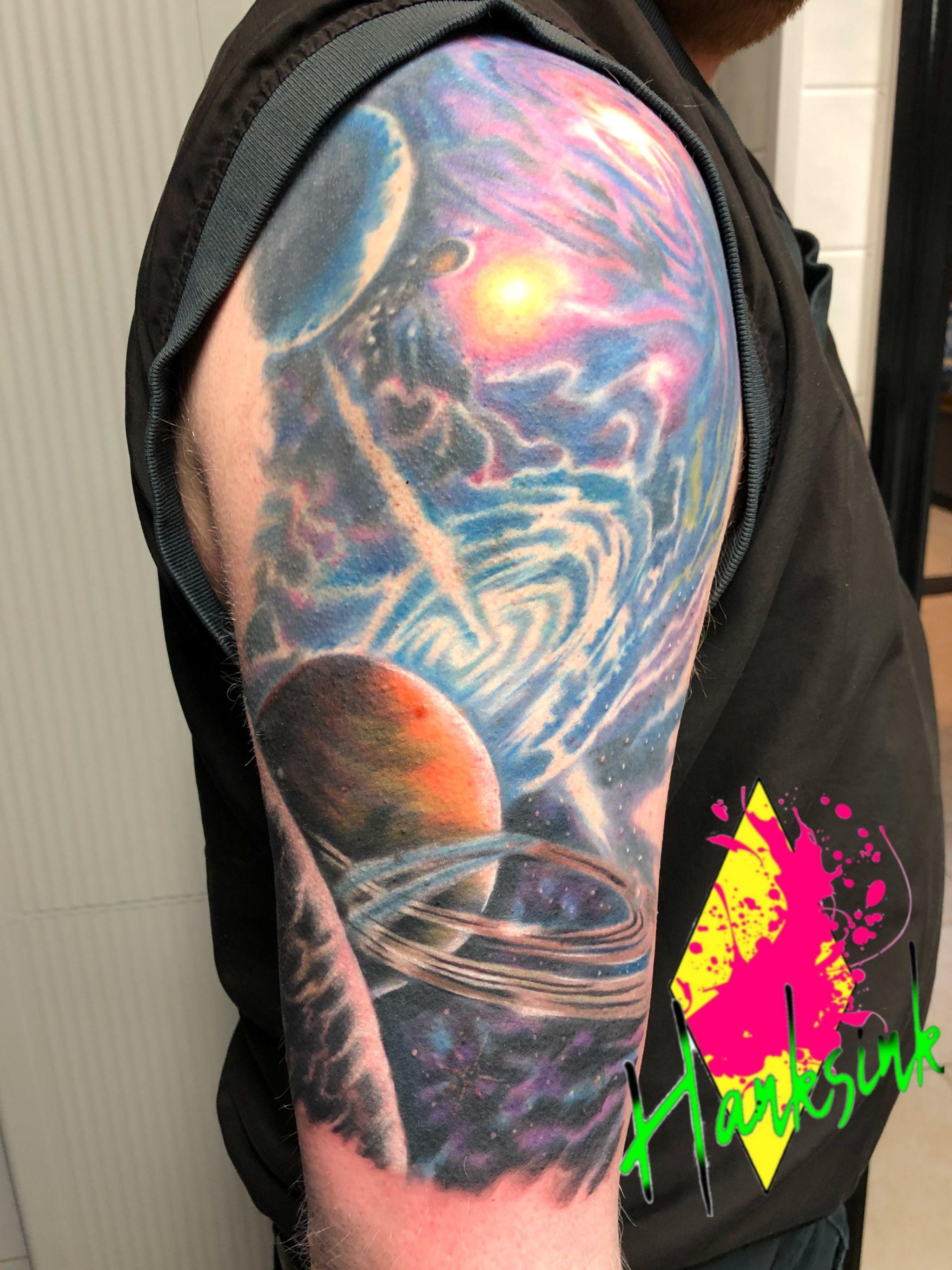 Galaxy By Hank Spencer Eliteinktattoos Tattoos Myrtlebeach