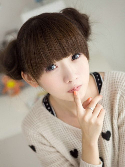 Cute Asian Short Hairstyles With Bangs
