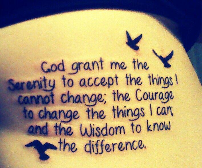 Shoulder Tattoo Quote Ribcage Serenity Prayer: Finally Went And Got My Serenity Prayer Tattoo To My Ribs