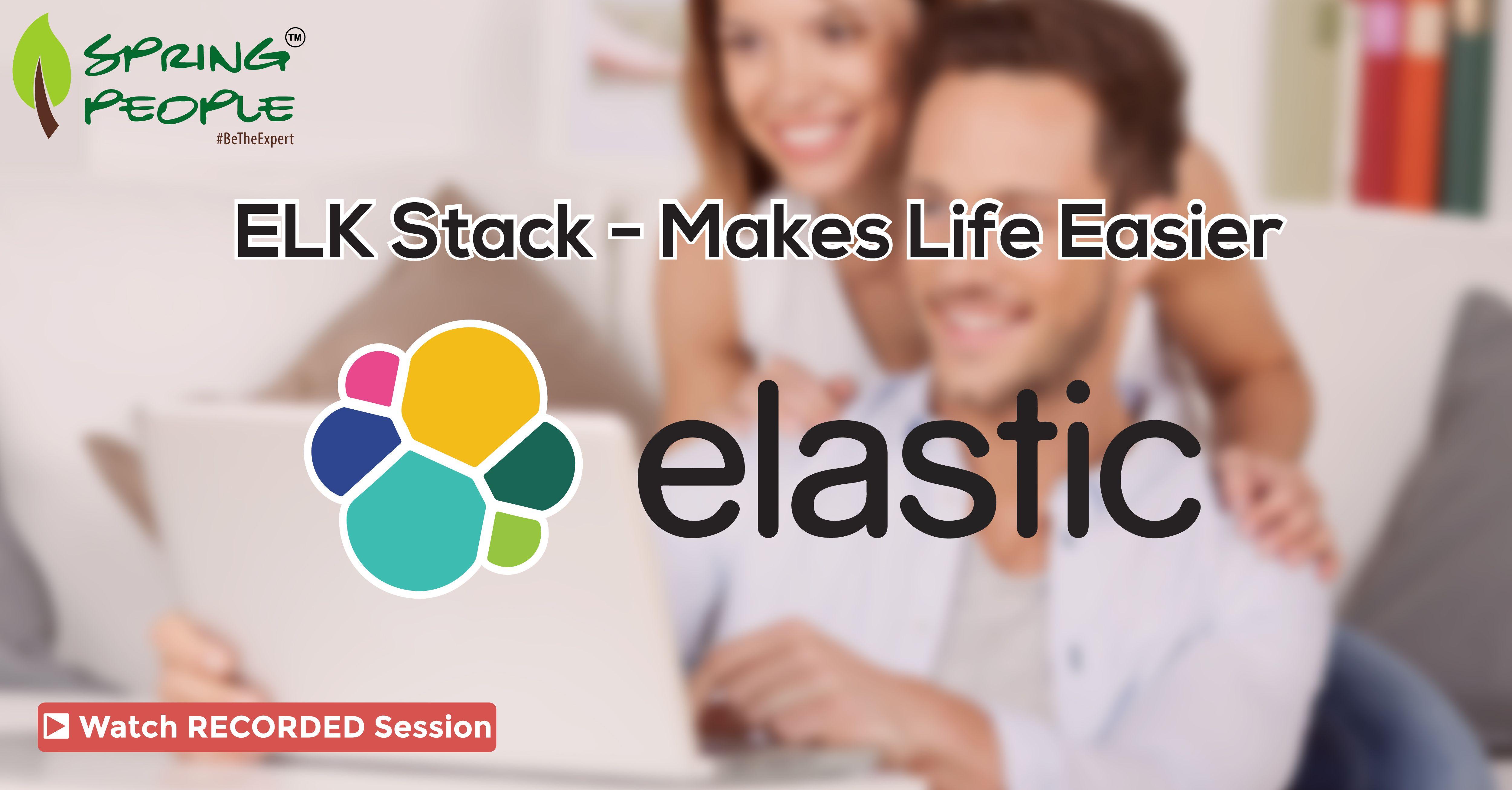 """For those who missed our live #Webinar! Get a free access to recorded session on """"ELK Stack: Makes life easier"""": #elasticsearch #Logstash #Kibana http://www.springpeople.com/webinars/elk-stack-makes-life-easier?utm_source=Pinterest&utm_medium=Social&utm_campaign=Brand_PI_WBRec_ELK_280616"""
