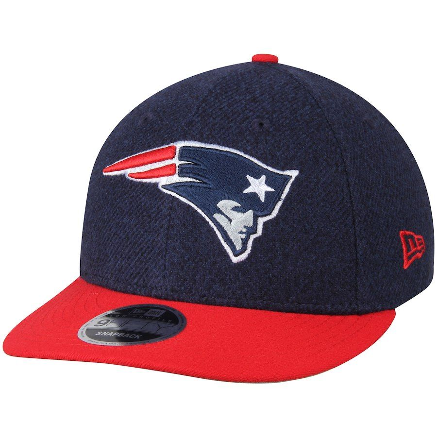 c8641b312 Men s New England Patriots New Era Navy Red Classic Trim Snap Low Profile  9FIFTY Adjustable Hat