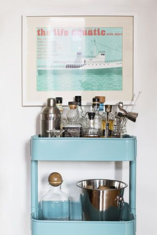 Home Bar Ideas For Small Spaces. Domino Shares Tiny Little Bars And Bar  Ideas For A Holiday Party In Your Studio Apartment!