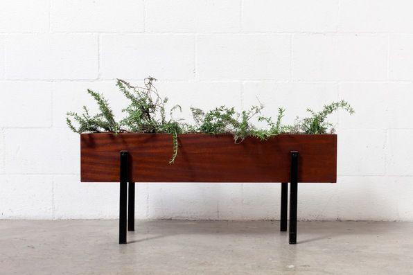 Mid Century Teak Planter Box Mid Century Modern Planter Planter Boxes Mid Century Planter