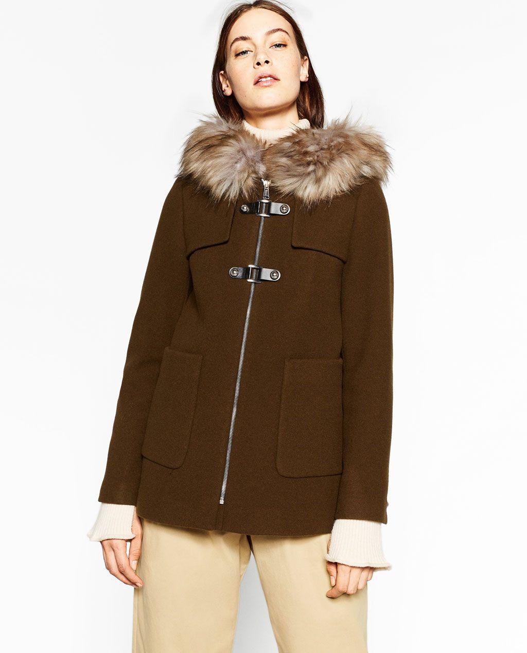 ZARA - WOMAN - A-LINE DUFFLE COAT | My Style | Pinterest | Coats