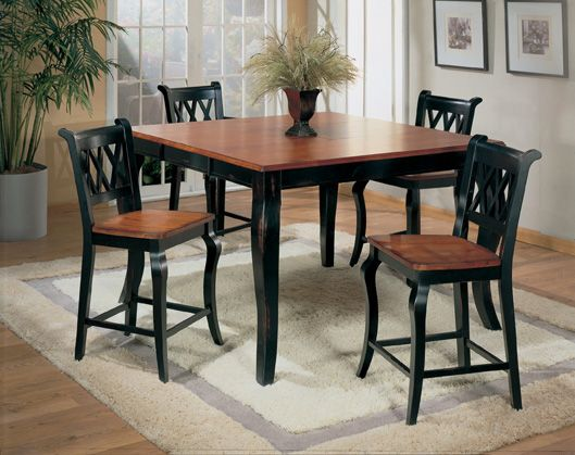 Great Black And Cherry Furniture · Small Kitchen Table SetsKitchen Dinette ...
