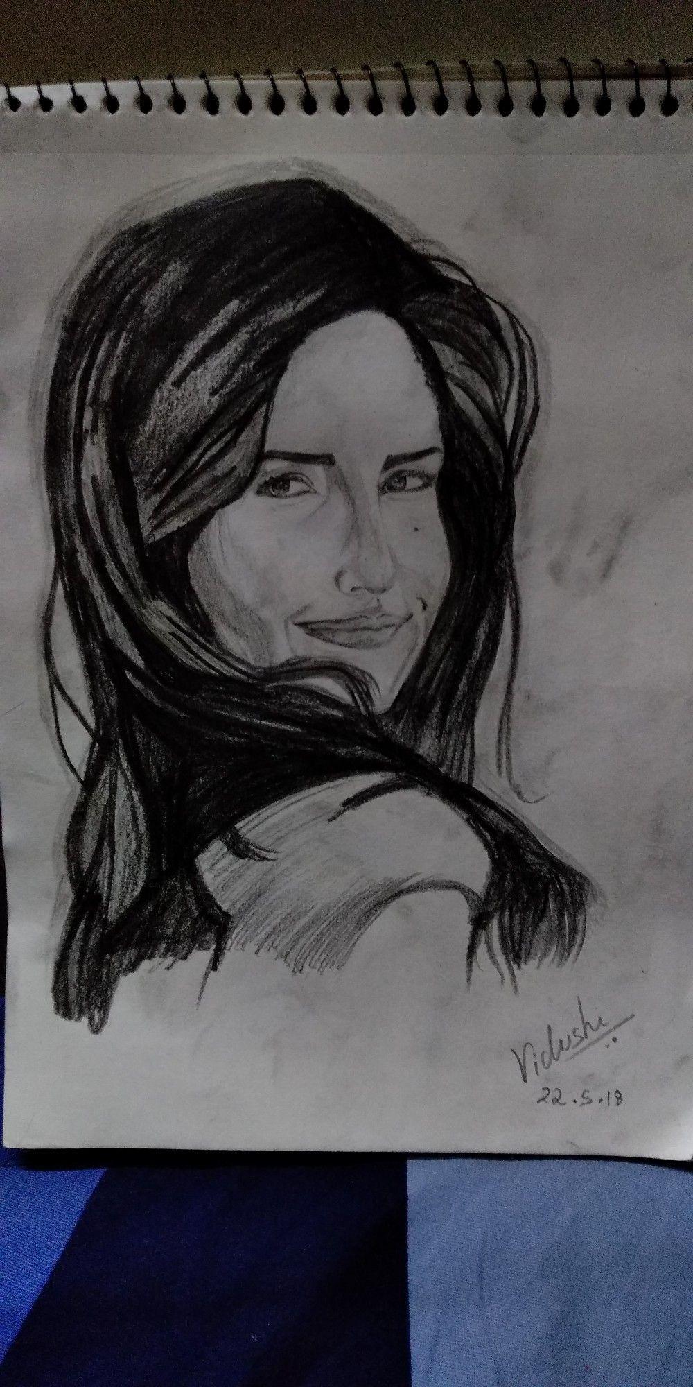 Katrina kaif sketch by sketches by vidushi