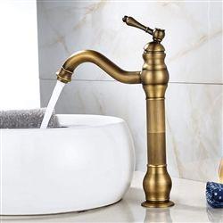 Photo of Shop Single Hole High Antique Brass Sink Faucet Swivel Spout Sink Sink Thermostatic Mixer Faucet