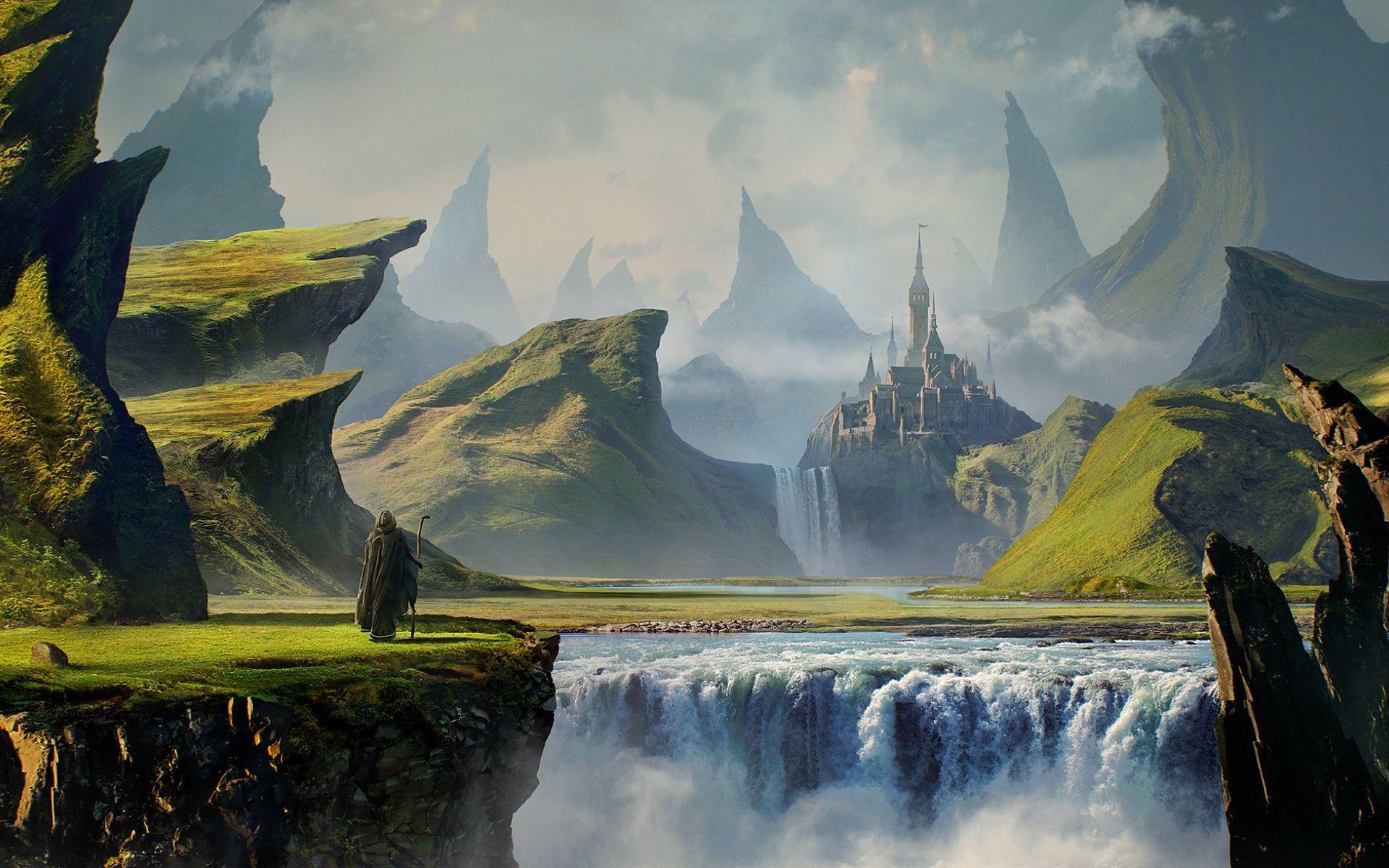 Lord Of The Rings Inspired 3D Wallpaper Digital Cgi Artwork LOTR Fantasy Landscape