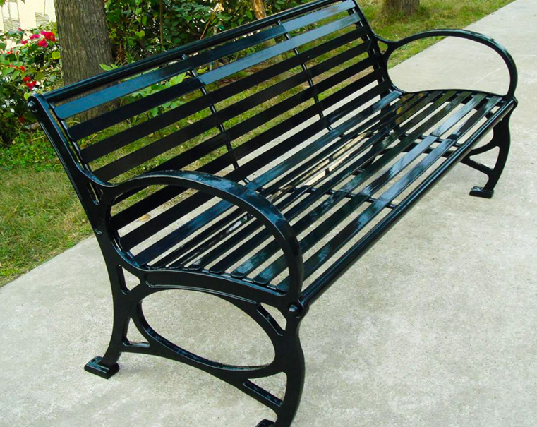 Metal Park Benches Strong Durable Not Easily Corroded Resistant To