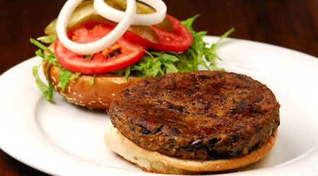 Israeli veggie burger
