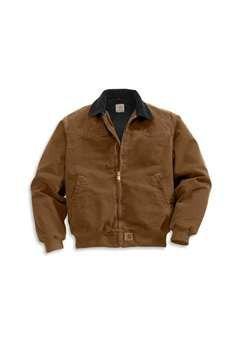 Carhartt Mens J14 Sandstone Santa Fe Jacket Quilted