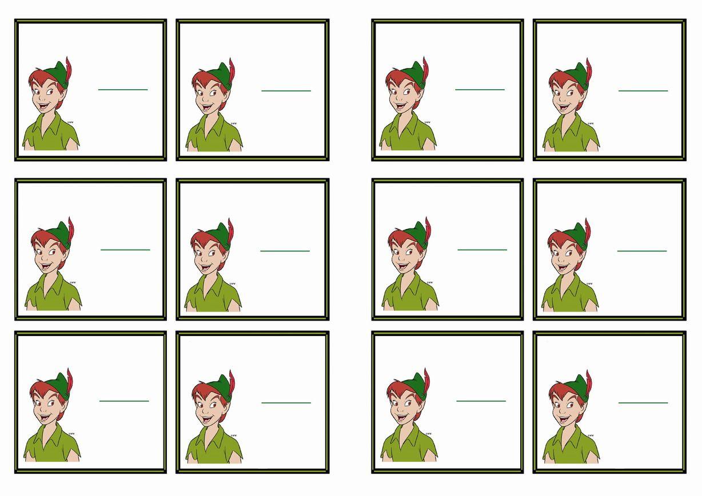 Free Printable Peter Pan Themed Name Tags