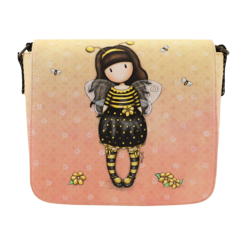 Gorjuss Cross Body Bag Bee Loved Santoro London Meerleuks Cross Body Penvrienden Tas