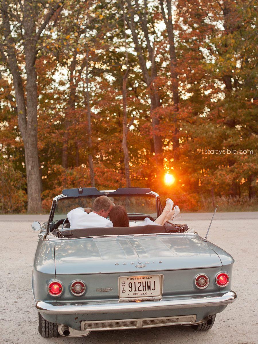 vintage car + sunset + vintage Midwest wedding photography ...