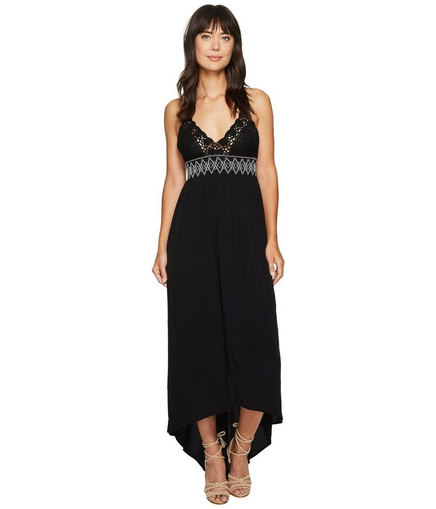 ASTR The Label Paola Sleeveless V-Neck High Low Crochet