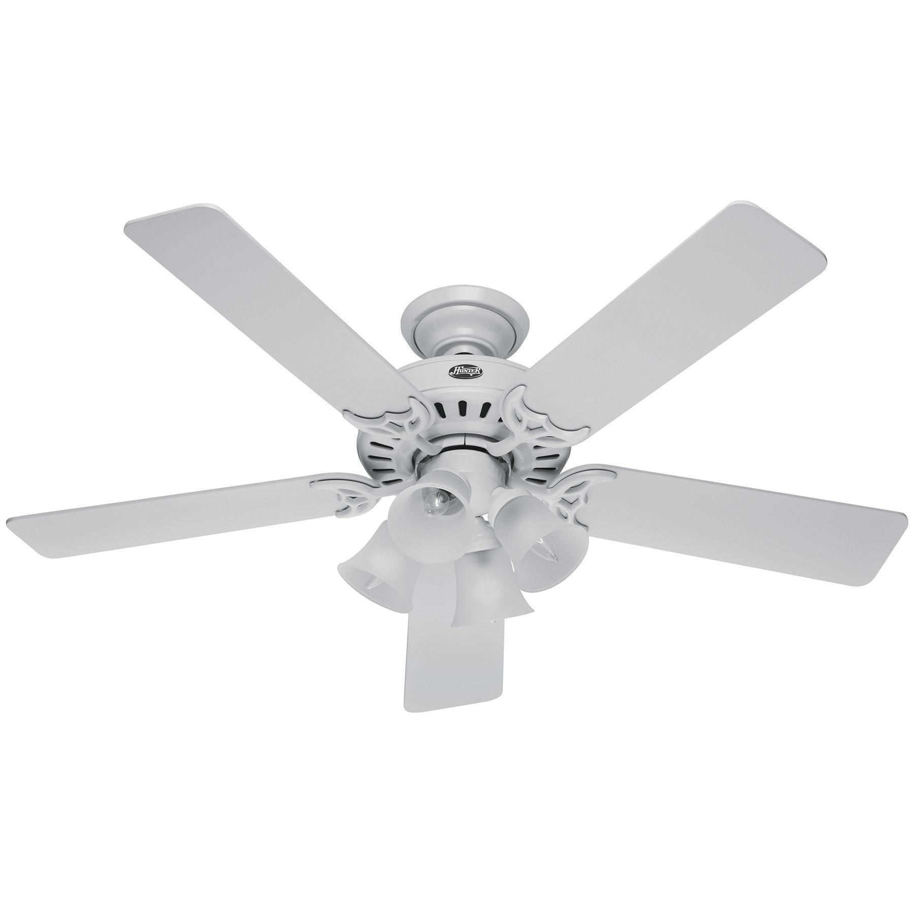 Hunter Fan Studio Series 52 inch Ceiling Fan White Wood
