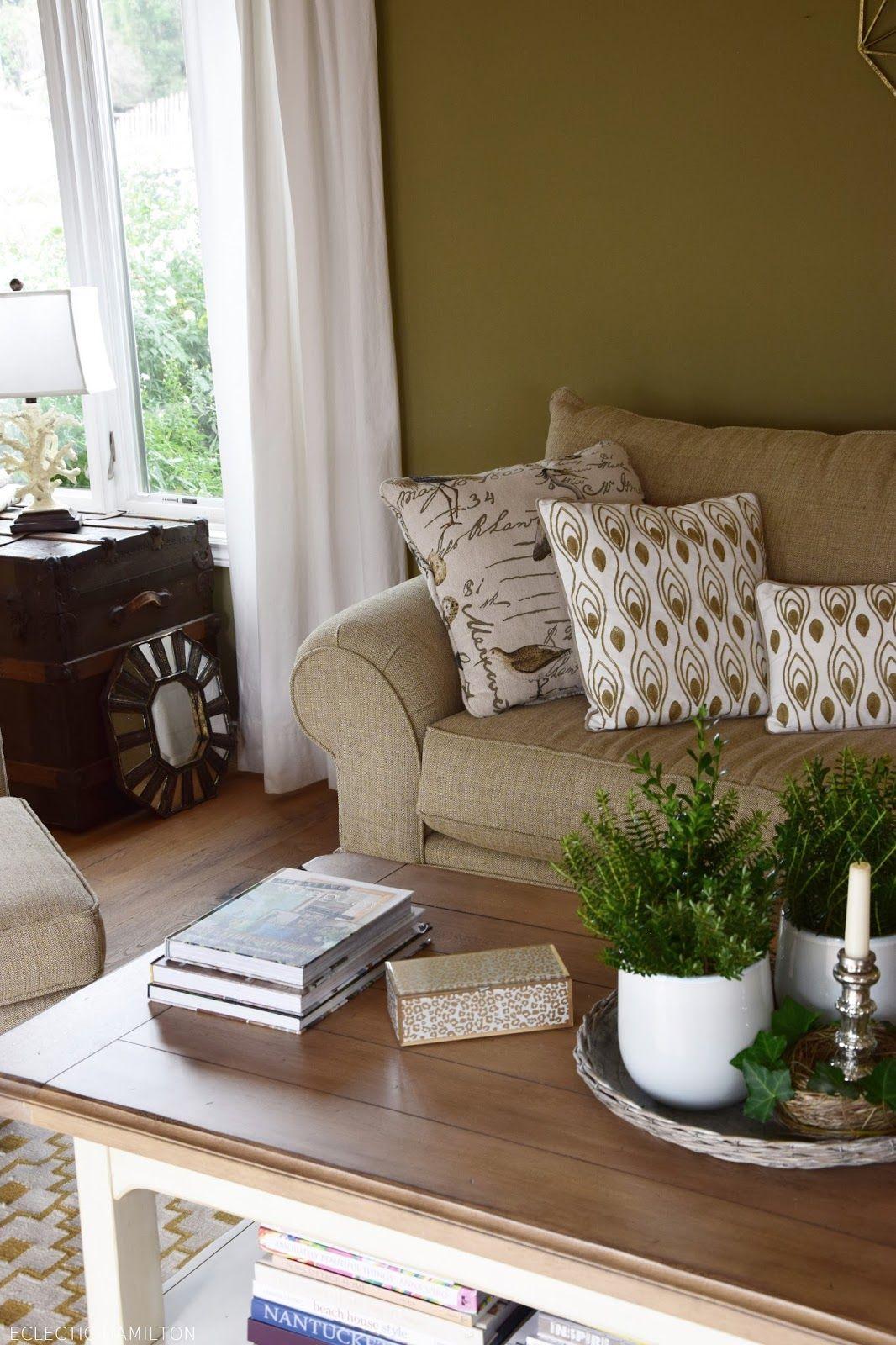 deko fur wohnzimmertisch, schnelle immergrüne deko für den wohnzimmertisch | wohnzimmer, Design ideen