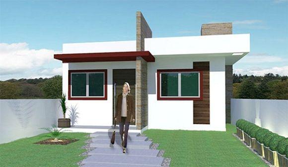 Fachadas de casas modernas de una planta dise o de for Plantas decorativas para interiores
