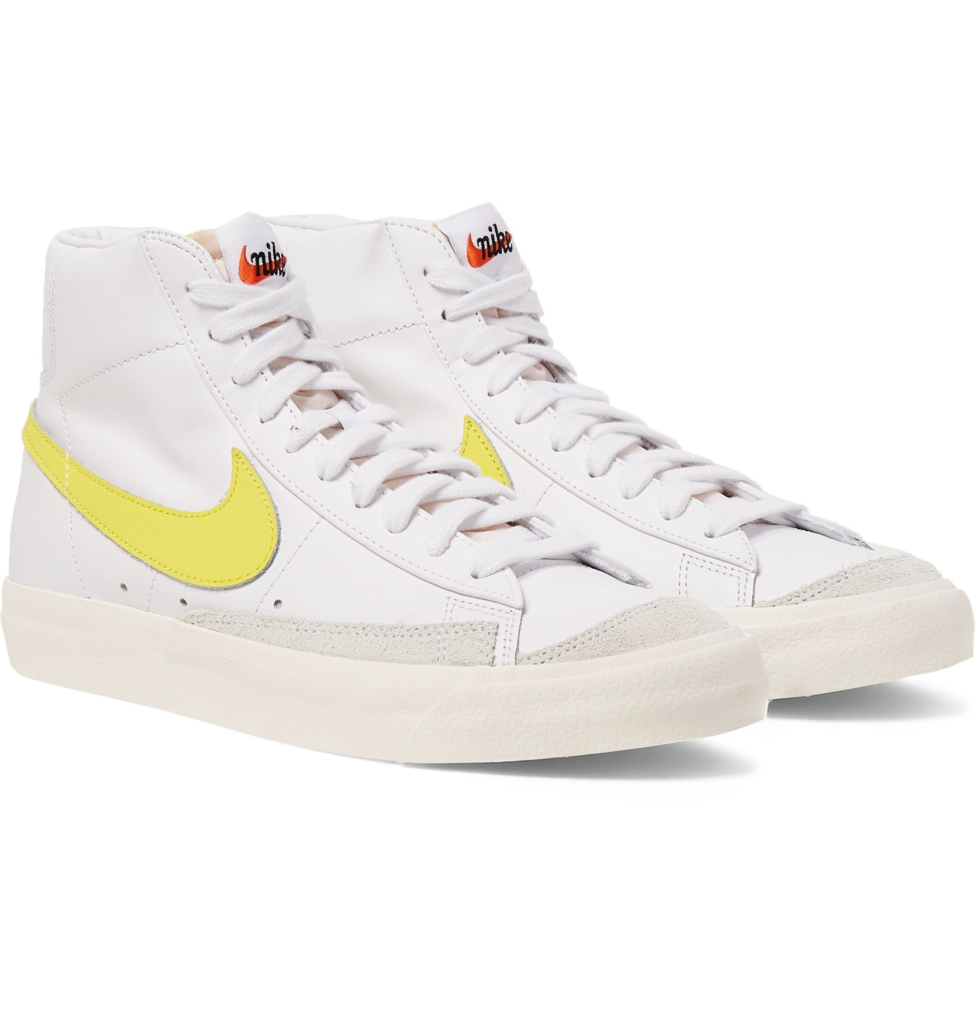 poco Regenerador familia  Taking inspiration from the design and silhouettes of '70s basketball shoes,  Nike's 'Blazer' high-tops… in 2020 | High top sneakers, Leather high tops, Leather  sneakers men