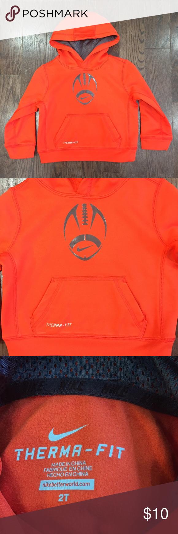 3T Nike Boys Orange Hooded Sweatshirt Great condition Nike Shirts & Tops Sweatshirts & Hoodies