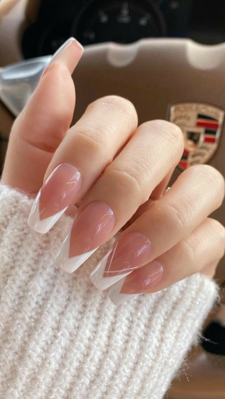 Nails Instagram Nails2020 France Woman Lovenails Beautiful In 2020 French Tip Acrylic Nails French Acrylic Nails Long Acrylic Nails