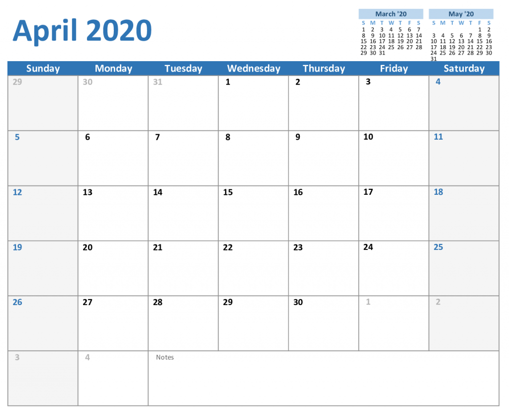 Free April Calendar 40 Printable Editable Template   Monthly ...