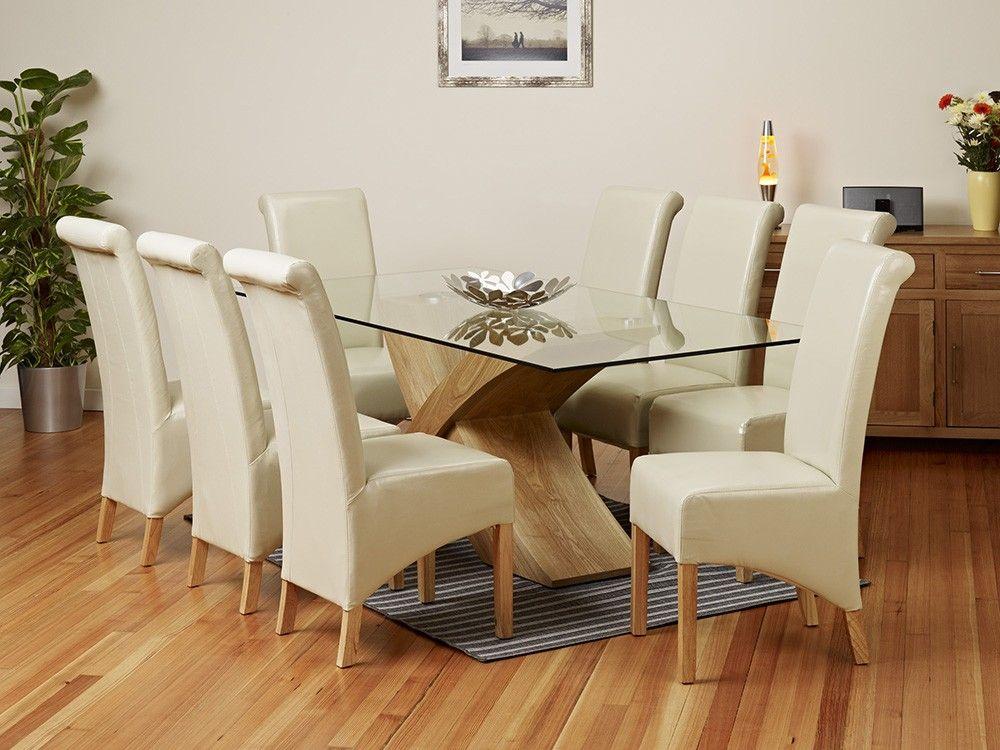Stupendous 2 Metre Glass Top Dining Table Set 1Home Glass Dining Creativecarmelina Interior Chair Design Creativecarmelinacom