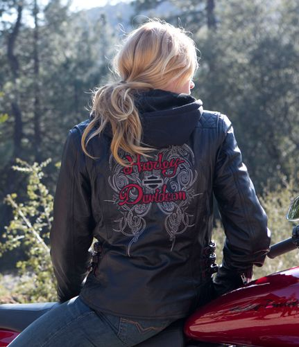 Harley Davidson® Womens Solstice 3 in 1 Black Leather Jacket