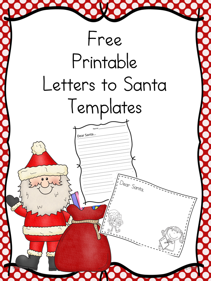 Santa Letter Free Cute template to write a letter to