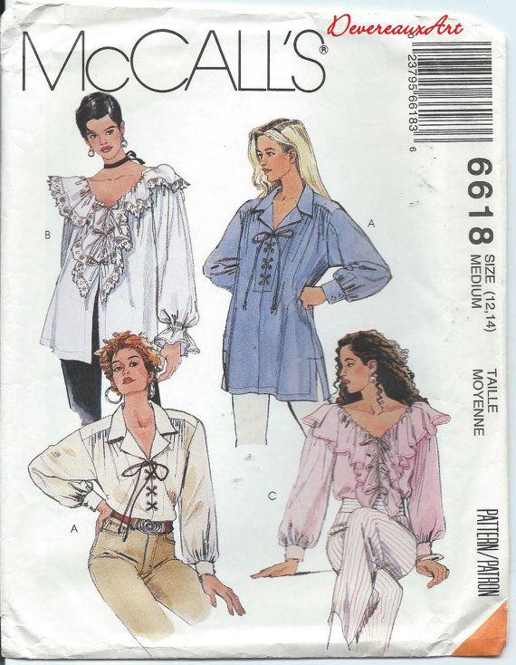 1993  McCall's Pattern 6618  UNCUT  Size Medium by Devereauxart, $4.00