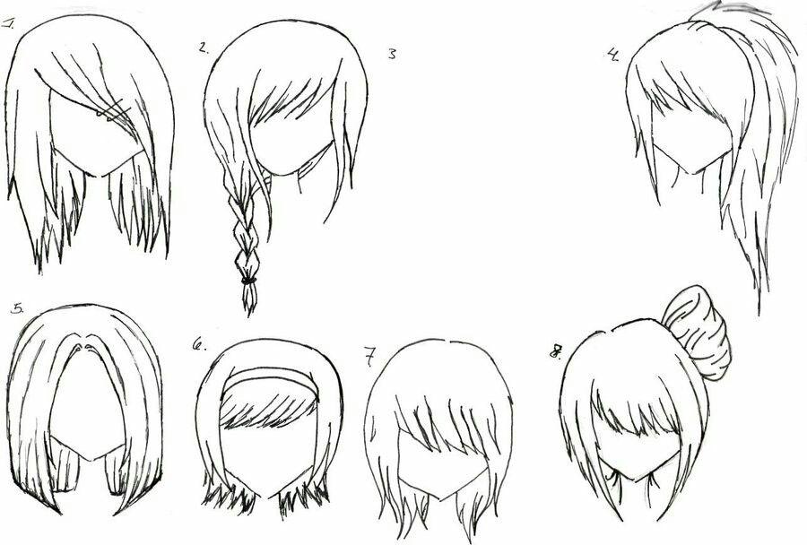 Manga Hairstyles Anime Hair Hair Sketch Female Anime Hairstyles