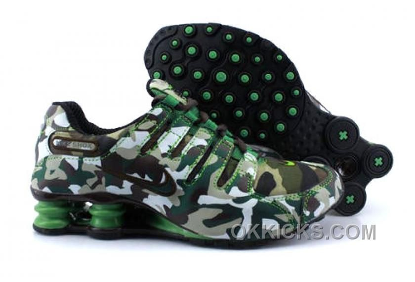 Discount Authentic Womens Nike Shox NZ Shoes Green/Black Camouflage