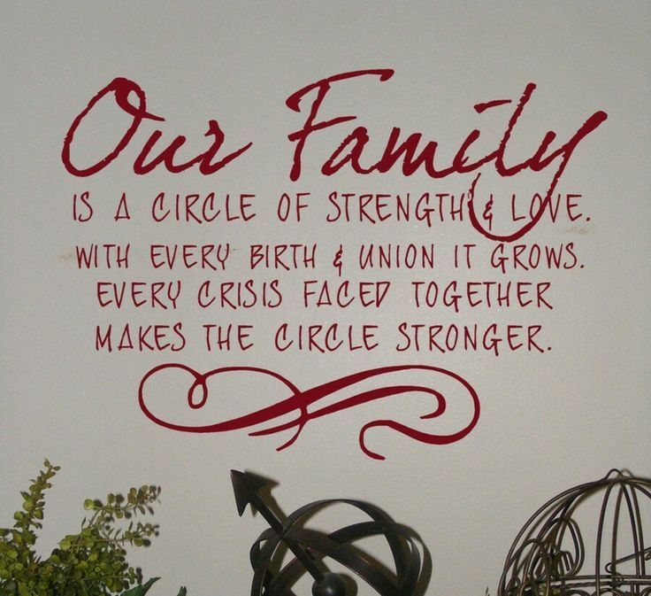 Our Family is a Circle of Strength and Love..... love family ...