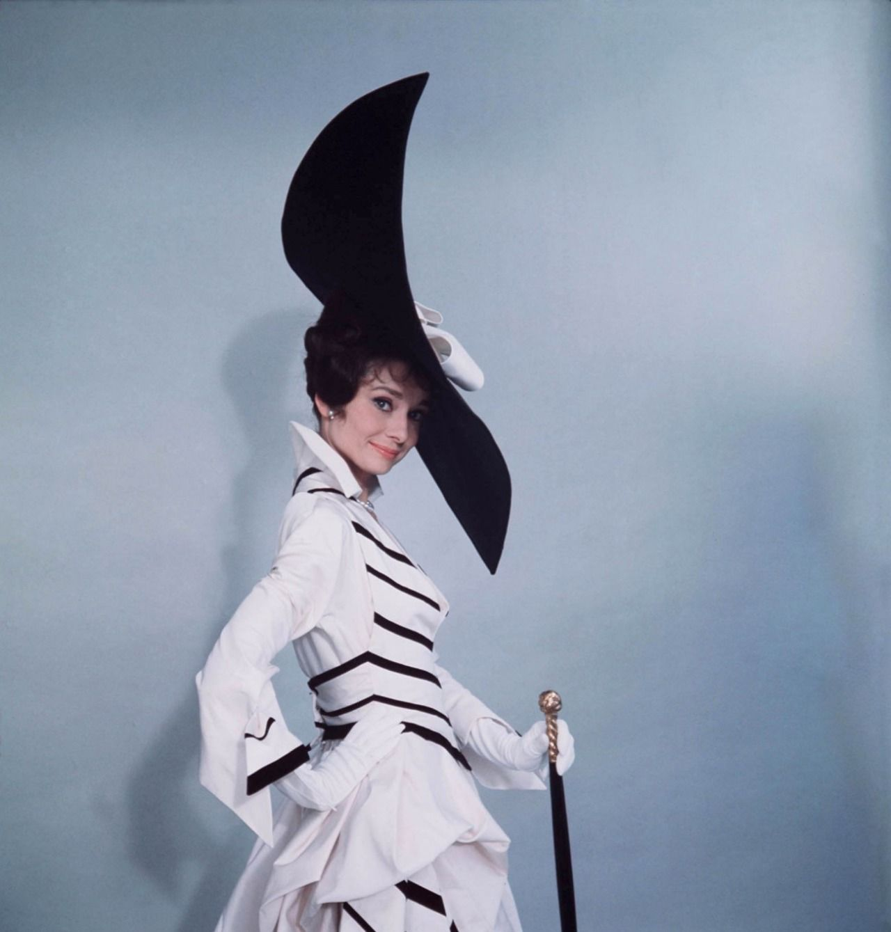 Audrey Hepburn in costumes by and photographed by Cecil Beaton for My Fair Lady (1964).