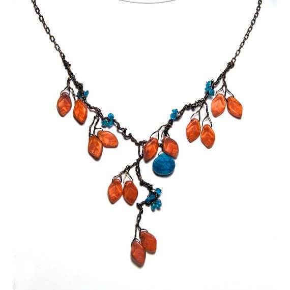 Orange Blue Inspired Jewelry Designs by CherylParrottJewelry | Craft ...