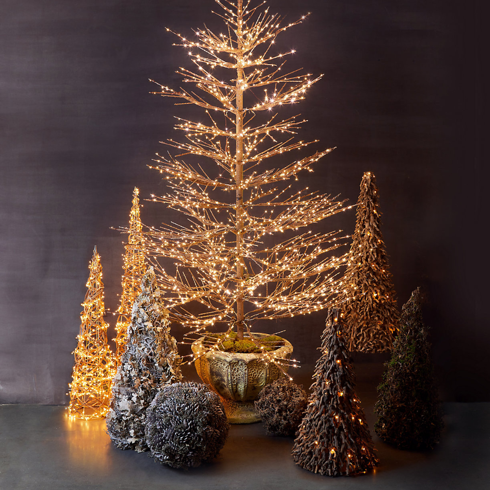 Faux Pre-Lit LED Twiggy Tree