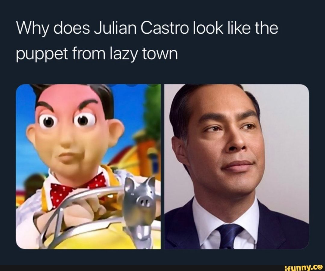 Why Does Julian Castro Look Like The Puppet From Lazy Town