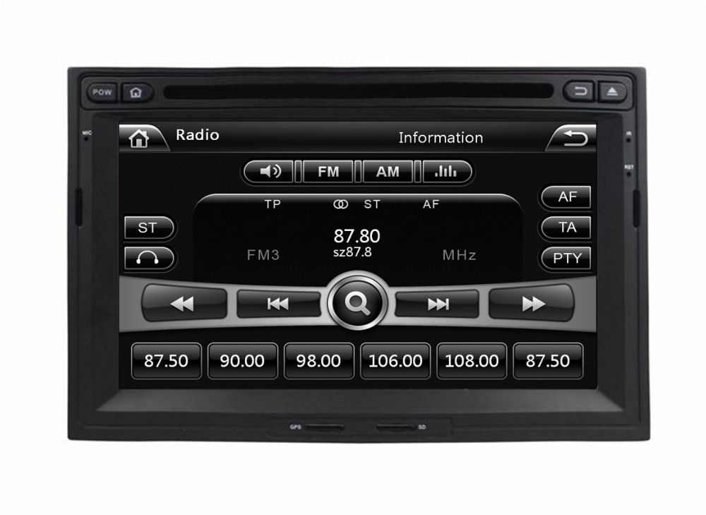 Hd 2 Din 7 Car Radio Dvd Gps For Peugeot 3008 5008 Partner 2010