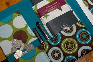 Great idea for a travel wallet ...