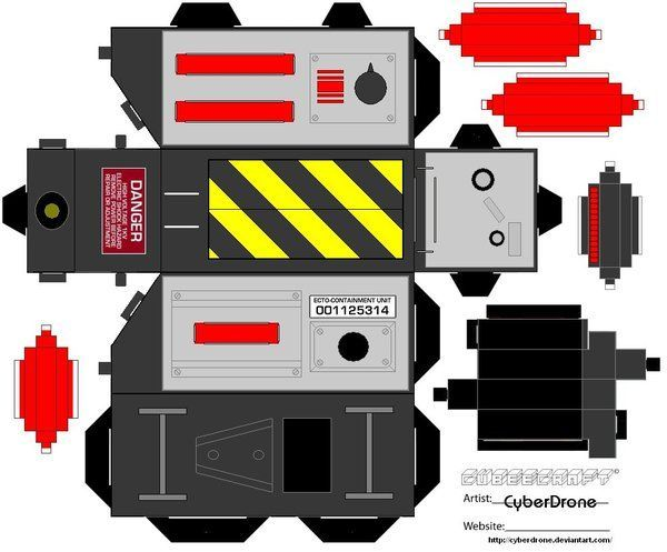 Build your own Ghostbusters Trap - free template! | 4 others