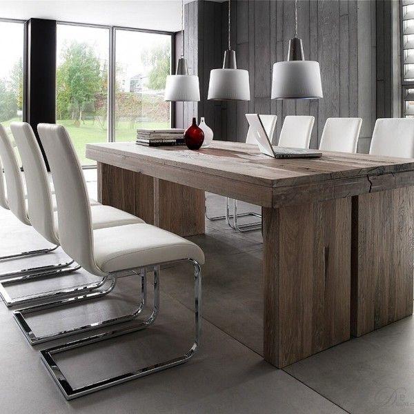 verwitterten eiche esstisch. Black Bedroom Furniture Sets. Home Design Ideas