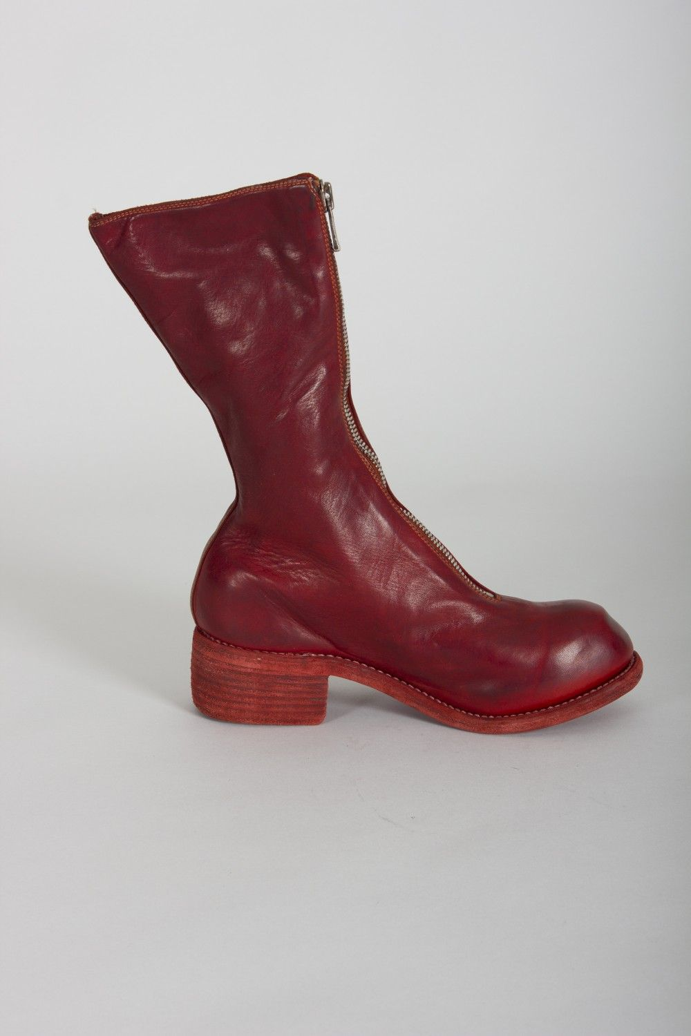 Pl9 1006t red horse full grain front zip boots | Boots