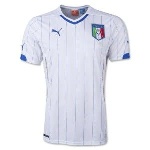 Italy 14/15 Away S/S Replica Football Shirt White available at http://www.world-cup-products-worldwide.com/italy-2014-away-short-sleeve-replica-football-shirt/