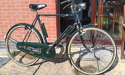 Original Vintage Raleigh Town Bike Sturmey Archer 3 Spd Dynamo Hub Lights Bicyclettes Cyclomoteur Voiture
