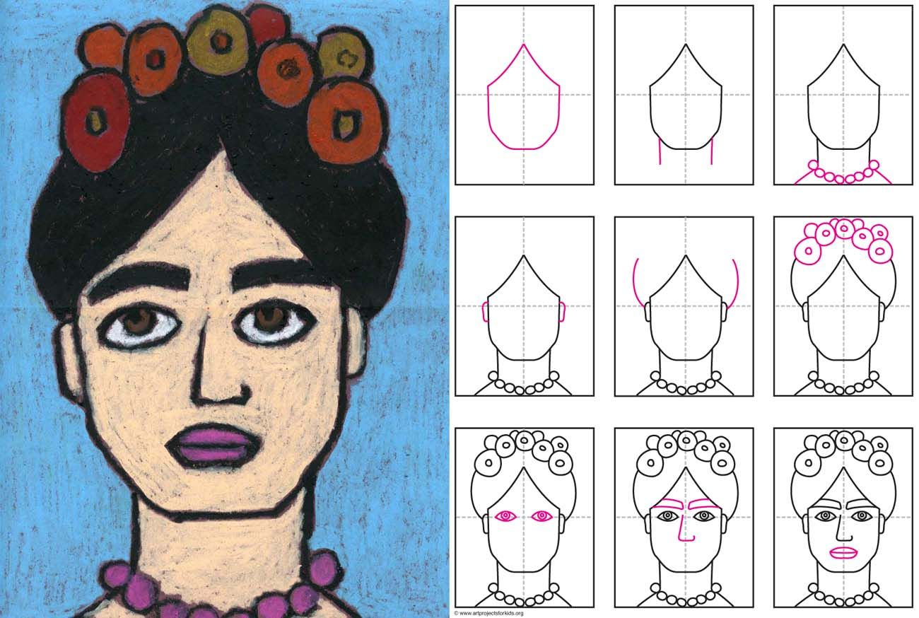 How To Draw Frida Kahlo