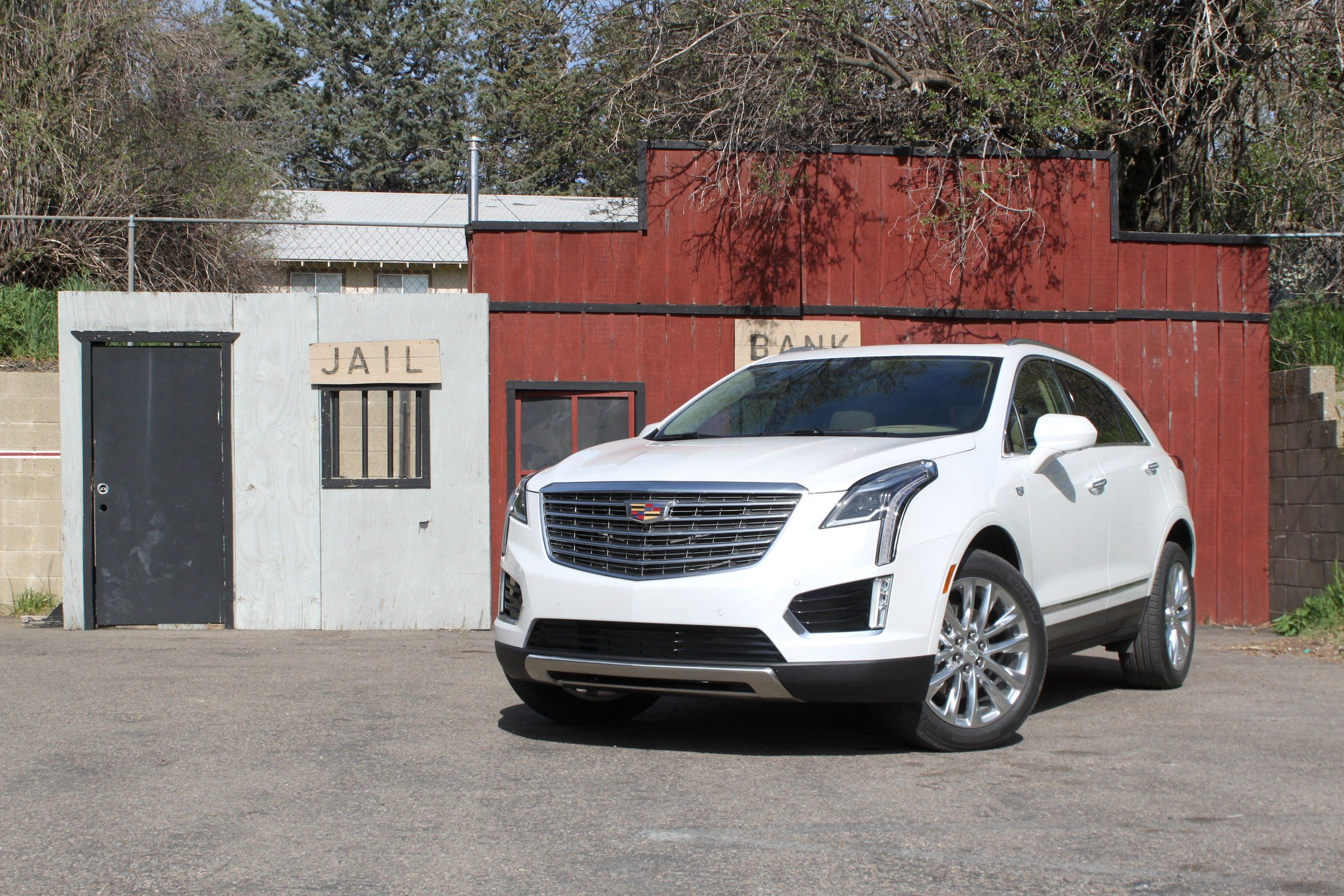 Beautiful scenery this 2017 Cadillac XT5 of course