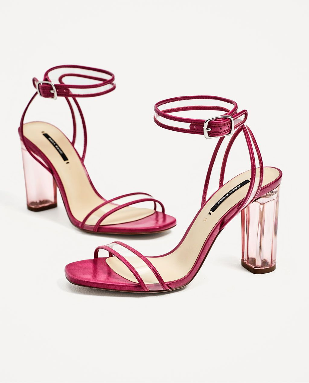 52f7e6ac6e7 VINYL HIGH HEEL SANDALS from Zara
