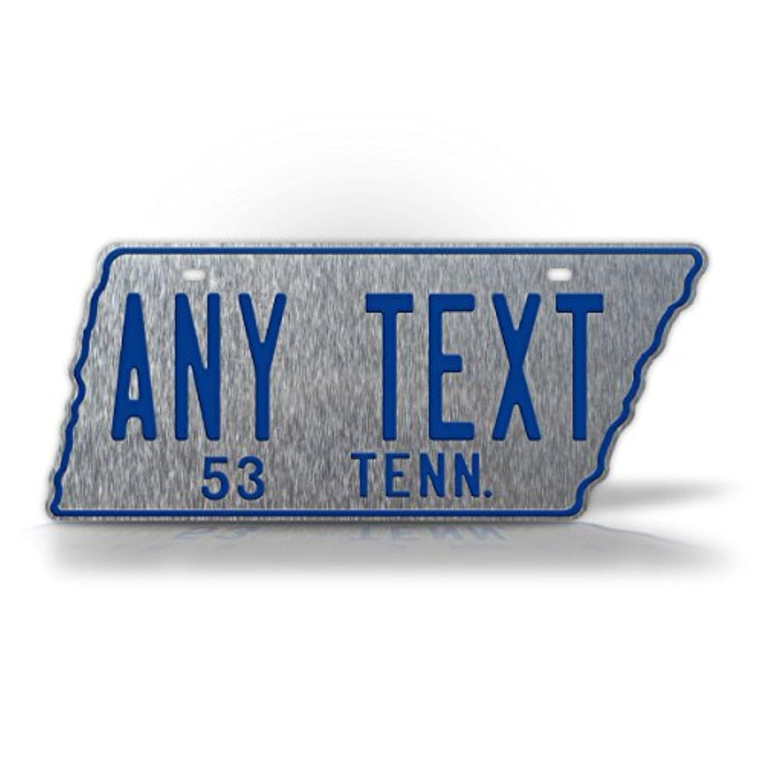 1953 Reproduction Tennessee State Shaped License Plate CUSTOMIZED ...
