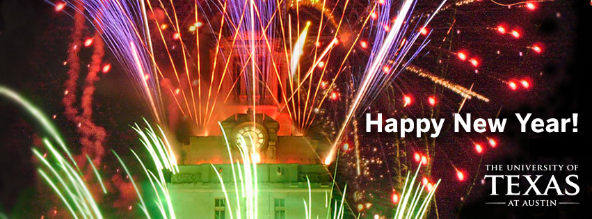 happy new year university of texas facebook cover photo uttower fireworks university